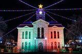lampasas county courthouse, lampasas, court house, courthouses, texas hill country, texas, county courthouses, christmas, christmas lights, holidays, holiday lights, downtown lampasas,