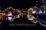lampasas texas, christmas, texas christmas, river park, trees, dripping lights, reflections, holiday, lights, manger, holiday lights, christmas decor,