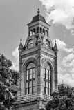 Llano County Courthouse Tower Vertical BW