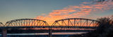 Llano bridge, texas hill country, sunset, pictures of texas, hill country, image of texas, photos of texas, Llano, llano river, pano, panorama, town, flooding, low water dam