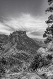 Big Bend National Park, Lost mine trail,black and white, bw, mountains, scenic, vista, colorful skys,Travel, Leisure, vacation, tourism, lifestyle, Texas, west texas, desert, nature,