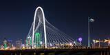 Margaret Hunt Hill Bridge, night, dallas skyline, Dallas pictures, continental bridge, ron kirk bridge, hunt hill bridge, pedestrian bridge, Reunion Tower, bank of america, image of dallas, dallas pho
