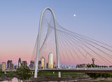 Bank of  America, Dallas, Fountain Place, Heritage Plaza, Margaret Hunt Hill bridge, Trinity Fiver, buildings, cityscape, cityscapes, downtown, glow, high rise, pano, panorama, reunion tower, skyline