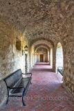 Mission Concepcion, breezeway, hall way, rock, brick, architecture, church, San Antonio Missions National Historical Park,
