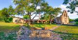 Mission Espada, San Antonio National Historical park, well, garden, trees, pano, panorama, Mission Espada Panorama