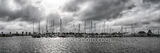rockport marina b w, panorama, pano, black and white, rockport, texas, coast, coastal, hurrican harvey, fish, boats, clouds, sun, filter, sailboats,sailboat mast, mast, fishing boats, seascape, seasca