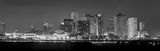 New Orleans skyline, black and white, skylines, cityscape, cityscapes, sun set, downtown, high rise, buildings, river, city, BW, panorama, pano, Mississippi river, Louisiana
