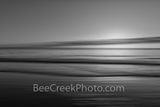 Ocean Wave Abstract BW