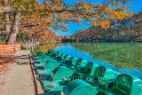 America, American, Frio River, Garner State Park, blue green waters, blue water, colorful, cypress trees, emerald, fall, fall colors, fall cypress trees, fall trees, images of Texas, kayaks, landscape
