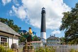pensacola, pensacola lighthouse, lighthouse, keepers house, jeremiah the pelican, pelican, white sand, beach, beaches,pensacola beach,escambia county, florida, florida panhandle,