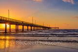 Port A Caldwell Pier Sunrise Glow Texas Coast