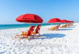 Red Umbrellas at Pensacola Beach