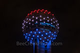 Reunion TowerBall, Dallas, red, white, blue, close up, observation, downtown, dallas stock photos