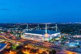 San Antonio Alamodome twilight, downtown, cityscape, cityscapes, sports, events, music, convention center, highway, Henry B Gonzales, Hemisphere park, Texas sports, UTSA Roadrunners, prints, canvas, m