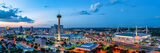 san antonio skyline, twilight, magic hour, blue hour, dusk, downtown san antonio, city of san antonio, san antonio texas, san antonio, skyline, texas, aerial, tower of americas, tower life, alamodome,