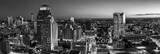 san antonio skyline, images of san antonio, black and white, b w , monochromatic, panorama, pano, panoramaic,  san antonio skyline photos, san antonio skyline pictures, san antonio pictures, night, da