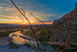 Santa Elena Canyon Sunrise, Santa Elena Canyons, sunrise, morning glow, rays, Rio Grande river, morning, Octillo, morning, Ross Maxwell Scenic Drive, Big Bend National Park, Texas, texas landscape, Bi