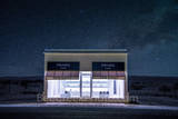 Prada Marfa, stars, night, dark, Marfa lights, west texas, starry, night skies, pop art, artist, Elmgreen and Dragset, pop architectural land art, shoes, purses, store front, west texas landscape