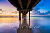 Sunrise at Caldwell Pier Port Aransas Texas