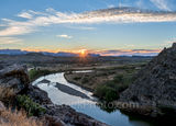 Santa Elena Canyon, sunrise, rays, Big Bend National Park,  Rio Grande river, down stream, gulf, Mexico, Texas landscape, landscape, Big Bend, desert, rocky , Chihuahuan Desert