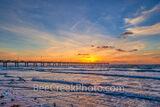 Sunrise over Pier at Texas Beach