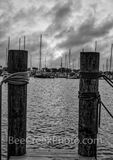 texas coast, coastal, b w, black and white, waterscape, seascape, oceanscape, slips, boats, sailboat,  marina, clouds, sunset, moody, skies, sky, ropes, rockport, texas, texas coast, coast, vertical