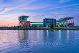 Waco, sunset, McLane Stadium, Baylor University, dusk, blue hour, Baylor Bears, stadium , University of Baylor, school, Brazos river, campus, landmark, city, iconic