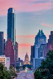 Texas Capitol Sunrise from Austin SOCO Vertical