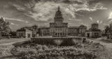 Austin, Texas Capitol, vintage, sepia, fine art, cityscape, downtown, city, State Capitol building, Texas State Capitol, state Capitol, Capitol of Texas, tourist, history, historic, trees, green lawn
