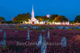 Texas church, country road, back road, wildflowers, indian paint brush, yellow daisy, cementary, head stones, religious, texas church night, church, spring, texas wildflowers, graves, country