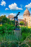 Texas State Capitol with Cowboy Statue Vertical