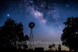 Texas Windmill with Milky Way