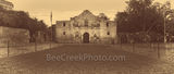 Alamo Vintage, panorama, pano, Alamo, San Antonio, sepia, historic, landmark, mission, fortress, San Antonio Missions National Historical Park, World Heritage Site, texas, travel, Santa Anna, army, ag