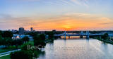 Waco Sunset Skyline Over the Brazos Pano