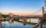 waco, downtown waco, waco texas, texas, city of waco, suspension bridge, historic bridge, historic suspension bridge, chisom trail, longhorns, sunset, sunrise, landmark, iconic, waco bridges, clouds,