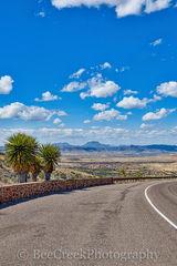 Alpine, Road, blue skies, landscape, scenic, vertical, white puffy clouds