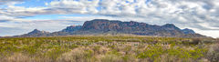 Chiso Mountian, landscape, pano, panorama, Big bend national park, scenic, clouds, Chihuahuan desert, creosote bush, desert, mountains,
