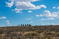 Fort Stockton, indians and horses, metal art, sign, welcoming west texas,