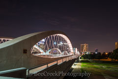 Fort Worth Tx, Fort Worth Bridge, Fort Worth Seventh Street Bridge, Ft Worth at night, Fort Worth cityscape, Fort Worth skyline, Trinity river, cityscapes, skyline, bidge,
