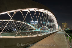 Fort Worth Seventh Street Bridge, Fort Worth, Seventh street bridge, 7th street bridge, architect, architectural, city, cityscape, cityscapes, downtown, modern, night, skyline, skylines, urban