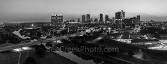 Fort Worth Skyline BW Pano