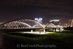 Fort Worth, Fort Worth cityscape, Fort Worth skyline, Seventh Street Bridge, architecture, city lights, city scene, cityscape, night city, skyline, urban scene