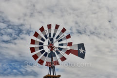 Patriotic, Windmill, red, white, blue, west texas, Terlingua, lone star,
