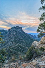 Big Bend National Park, Chiso Basin, Lost mine trail, Mountains, landscape, sunset, vertical, vista