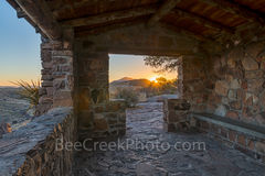 Sunset, rays, Fort Davis State Park, rock overlook, Fort Davis mountains, texas landscape, west texas, Fort Davis, Texas,