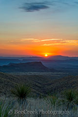Big Bend National Park, Chihuahuan Desert, Mountains, Santa Elena Canyons, Sierra Ponce, Sotal Overlook, landscape, sunset, vertical