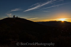 Sunset, Fort Davis, Davis Mountains, Mount Locke, Otto Struve, Harlan J. Smith, McDonald Observatory, Davis mountains, West Texas, UT, Astronomy, planetary systems, telecopes, dome, dark skies,