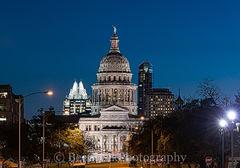 Texas Capitol at Dark