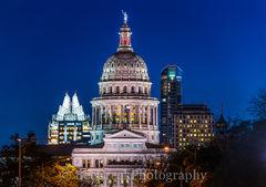 Texas Capitol in Austin Night