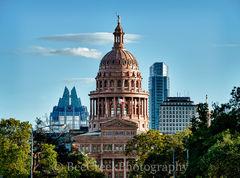 Texas Capitol with Austin Skyline